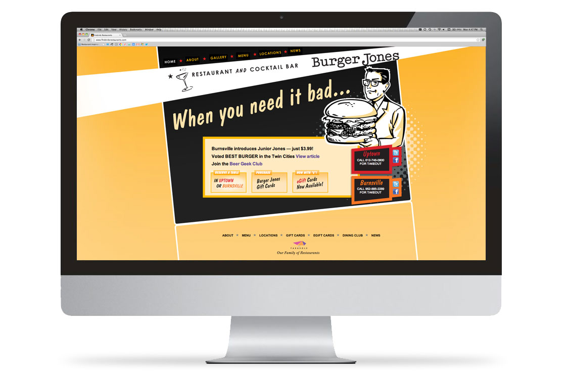Burger Jones Website