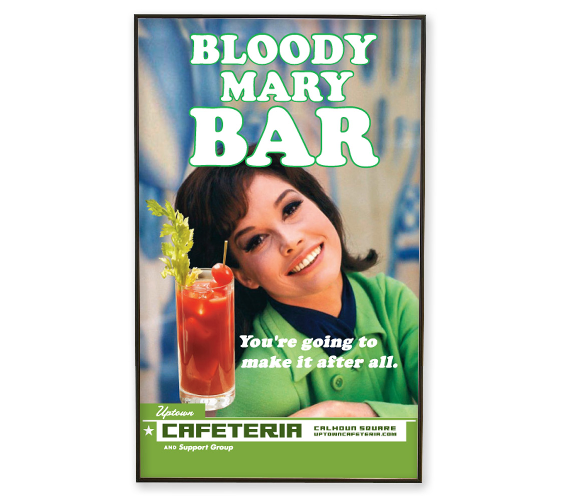 Cafeteria Bloody Mary Poster
