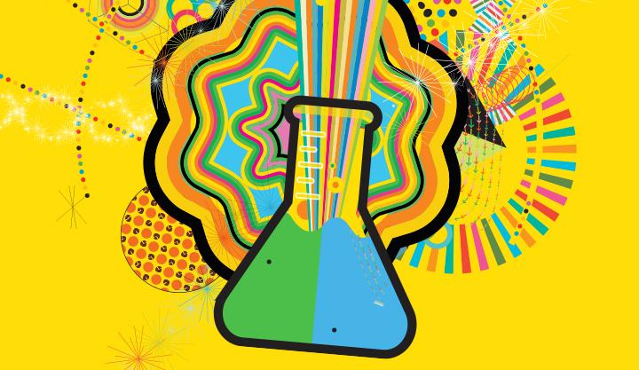 Supervox Beaker bursting with color