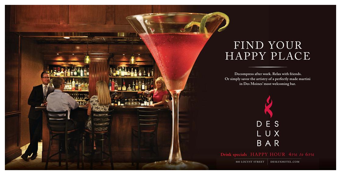 DesLux Happy Hour Poster