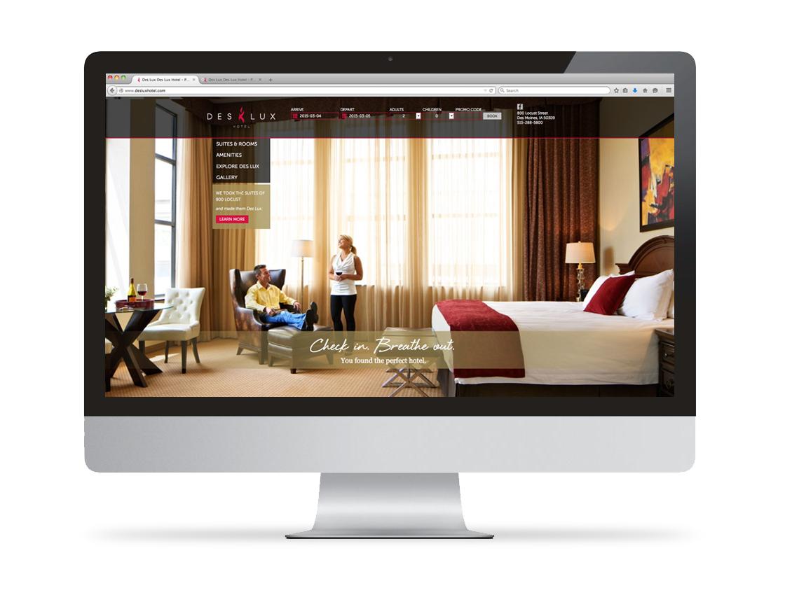 DesLux Website On Desktop