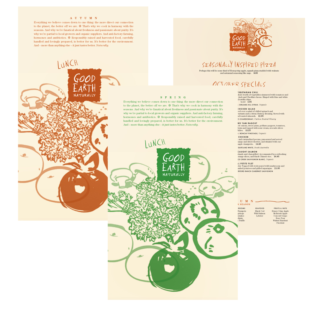Good Earth Menus