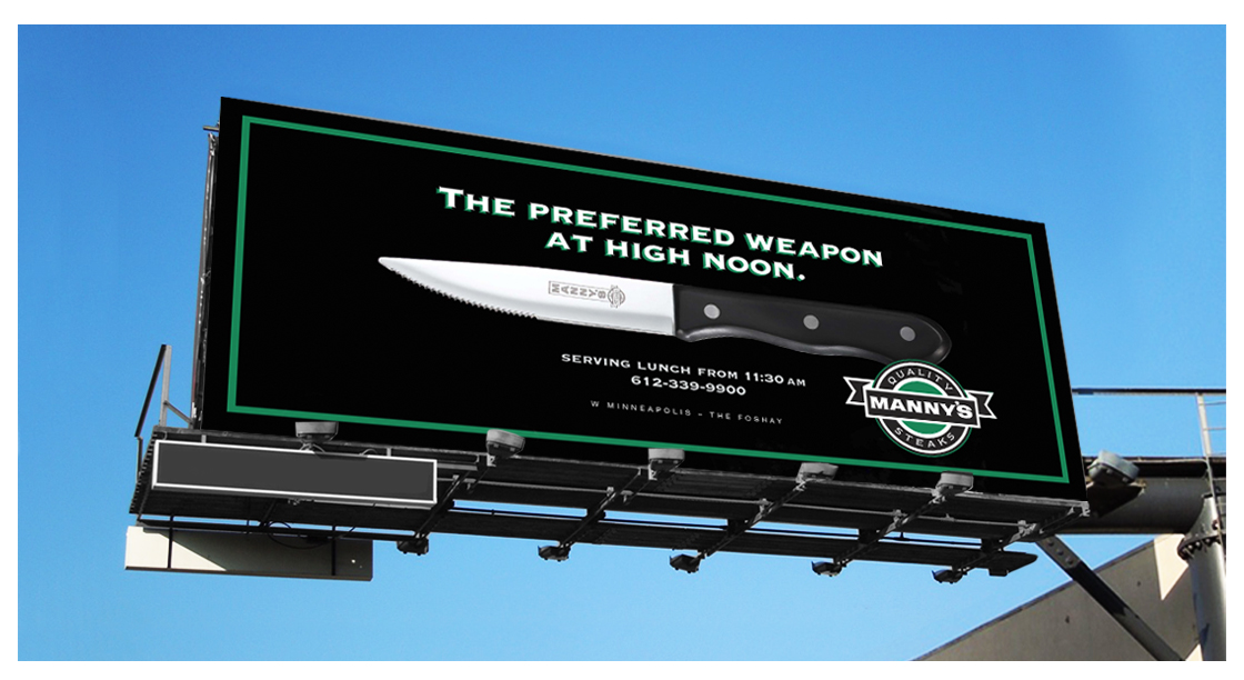 Manny's Steakhouse Billboard