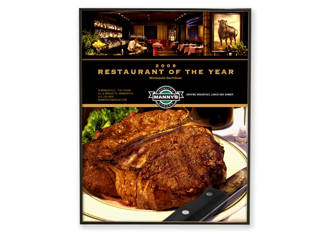 Manny's Steakhouse Restaurant of the Year Ad