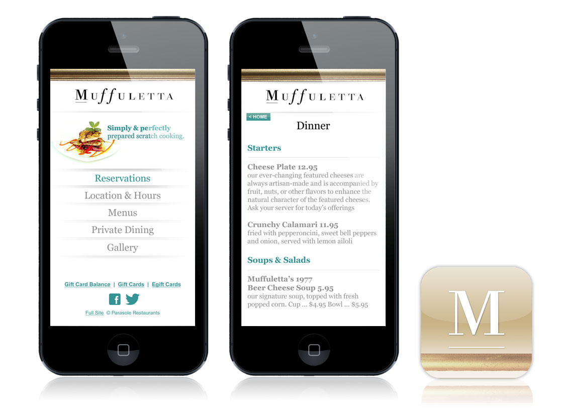 Muffuletta Mobile Website