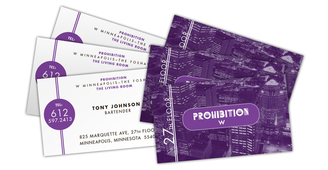 Prohibition Business Cards