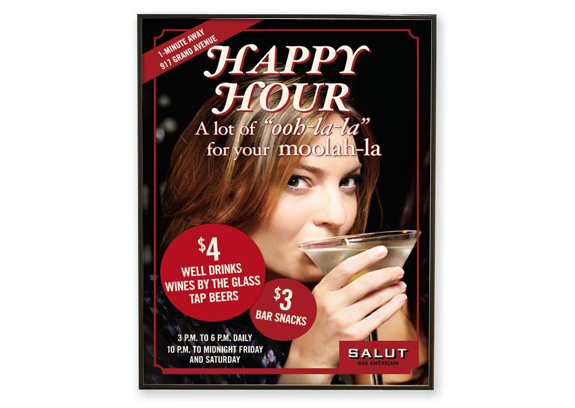 Salut Happy Hour Poster
