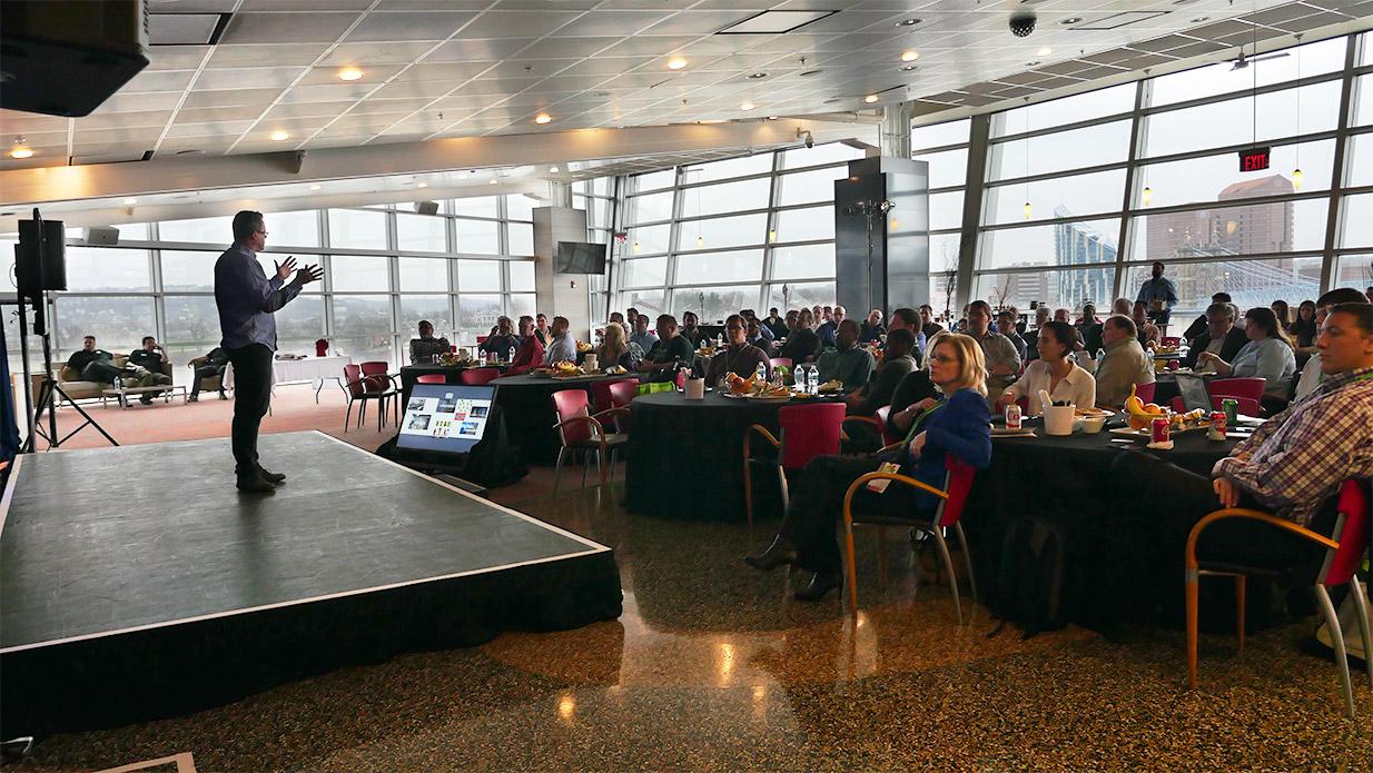 Gary Kayye speaking at AVI Live 2017 Cincinnati