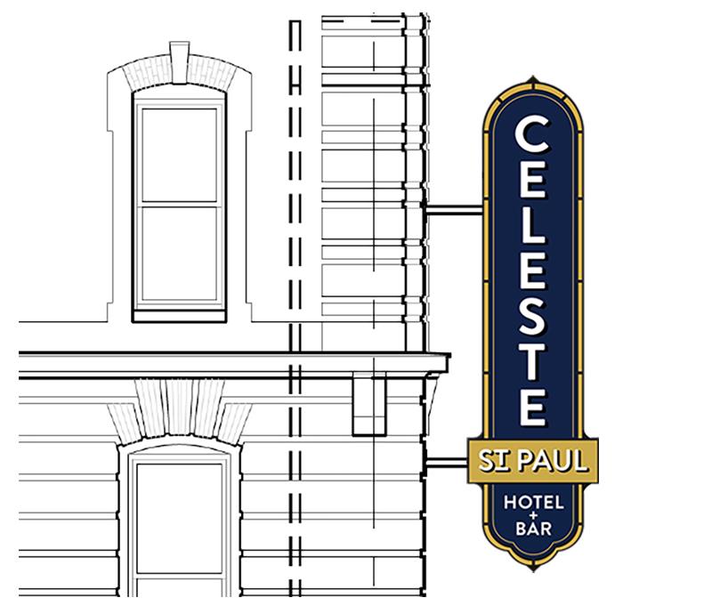 celeste hotel blade sign mockup