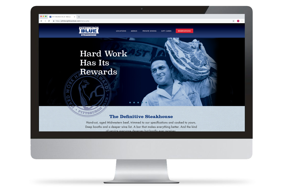 Pittsburgh Blue Website Desktop View