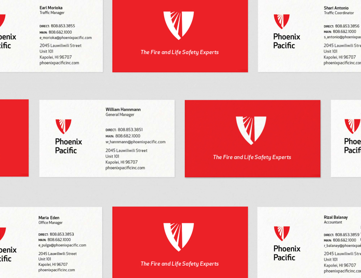 Phoenix Pacific Buisness Cards