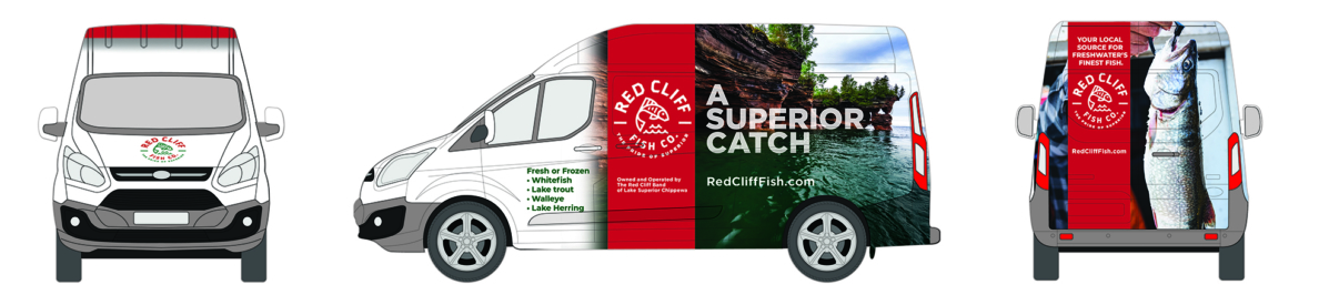 Red Cliff Van Wrap
