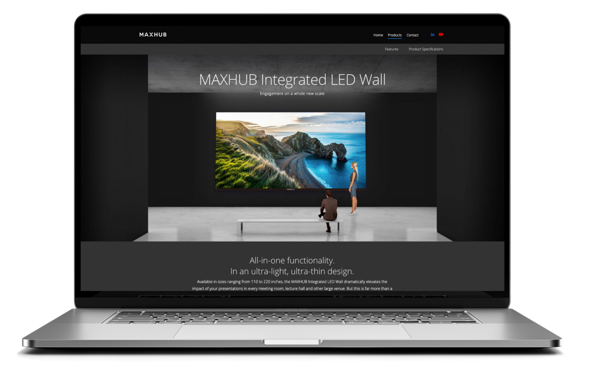 MAXHUB home page