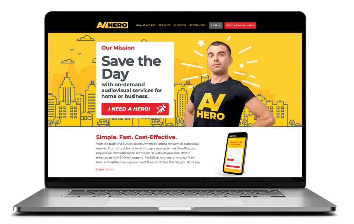 AV Hero Website Home