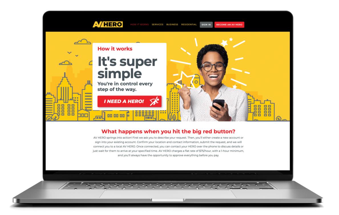 "AV HERO website ""How it Works"" page"